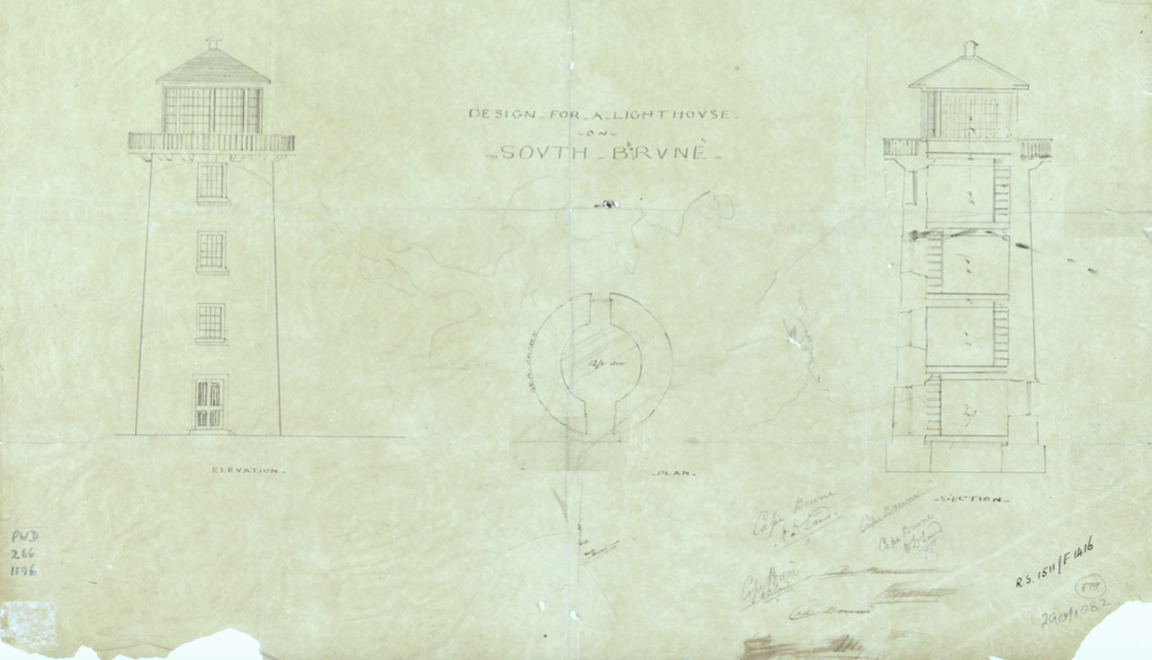 John Lee Archer Original Drawings of Cape Bruny Lighthouse